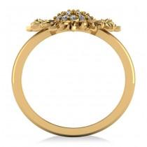 Diamond Sunflower Fashion Ring 14k Yellow Gold (0.19ct)