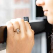 Diamond Sunflower Fashion Ring 18k Rose Gold (0.19ct)