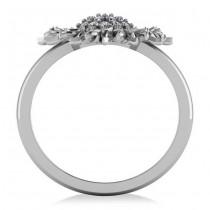 Diamond Sunflower Fashion Ring 18k White Gold (0.19ct)