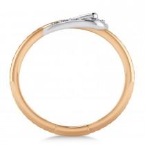 Diamond Belt Buckle Ring 14k Rose Gold (0.15 ct)