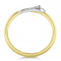 Diamond Belt Buckle Ring 14k Yellow Gold (0.15 ct)