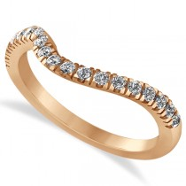 Diamond Semi Eternity Contoured Wedding Band in 14k Rose Gold (0.29ct)