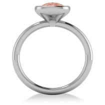 Cushion Cut Pink Morganite Fashion Ring 14k White Gold (1.90ct)