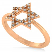 Diamond Jewish Star of David Fashion Ring 14k Rose Gold (0.15ct)