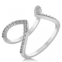 Abstract Designs Diamond Fashion Ring 14k White Gold (0.38ct)