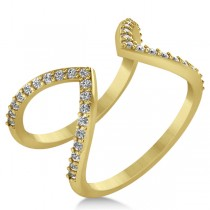 Abstract Designs Diamond Fashion Ring 14k Yellow Gold (0.38ct)