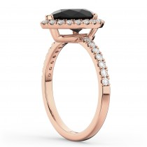 Pear Black Diamond & Diamond Engagement Ring 14K Rose Gold (2.51ct)