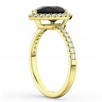 Pear Black Diamond & Diamond Engagement Ring 14K Yellow Gold (2.51ct)