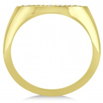 Family Tree of Life Diamond Signet Ring 14k Yellow Gold (0.08ct)