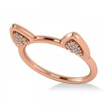 Diamond Cat Ears Fashion Ring 14k Rose Gold (0.22ct)
