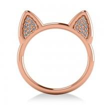 Diamond Cat Ears Fashion Ring 14k Rose Gold (0.22ct)