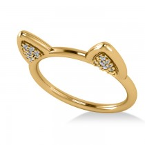 Diamond Cat Ears Fashion Ring 14k Yellow Gold (0.22ct)