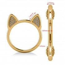 Diamond Cat Ears Fashion Ring 14k Yellow Gold (0.22ct)