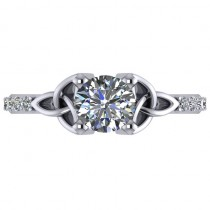 Luxe Diamond Celtic Knot Engagement Ring  Platinum 0.16ct