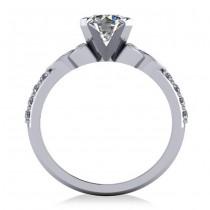 Round Diamond Celtic Knot Engagement Ring 14K White Gold (1.00ct)
