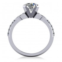Round Diamond Celtic Knot Engagement Ring 14K White Gold (1.50ct)