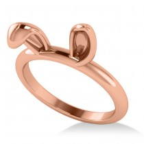 Bunny Ears Fashion Ring 14k Rose Gold