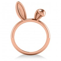 Bunny Ears Fashion Ring 14k Rose Gold|escape