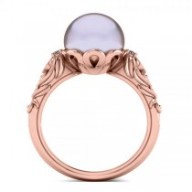 Diamond & Freshwater Pearl Fashion Ring in 14k Rose Gold (10mm) (0.10ct)|escape