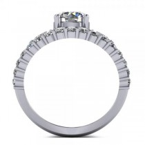 Diamond Accented Abstract Design Ring in 14k White Gold (1.20ct)
