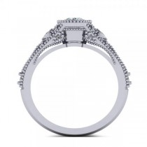 Vintage Style Oval Diamond Engagement Ring 14k White Gold (1.80ct)|escape