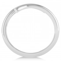 Swirl Design Plain Metal Fashion Ring 14k White Gold