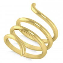 Swirl Design Plain Metal Fashion Ring 14k Yellow Gold