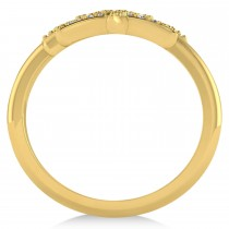 Diamond Double Starfish Fashion Ring 14k Yellow Gold (0.30ct)