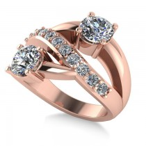 Diamond Ever Together 2-Stone Ring 14k Rose Gold (2.00ct)