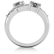 Diamond Ever Together 2-Stone Ring 14k White Gold (2.00ct)