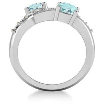 Aquamarine & Diamond Ever Together Ring 14k White Gold (2.00ct)