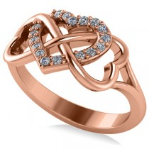 Infinity Heart Diamond Accented Fashion Ring 14k Rose Gold (0.17ct)