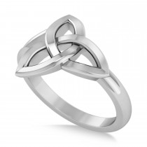 Interlocking Celtic Ring 14k White Gold