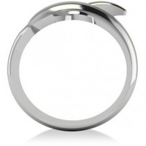Summertime Dolphin Fashion Ring 14k White Gold