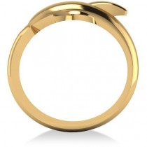 Summertime Dolphin Fashion Ring 14k Yellow Gold