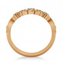 Ladies Diamond Antique Novelty Cigar Ring 14k Rose Gold (0.44 ctw)