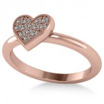 Diamond Heart Fashion Ring 14k Rose Gold (0.13ct)