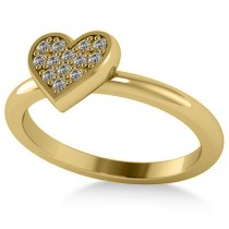Diamond Heart Fashion Ring 14k Yellow Gold (0.13ct)