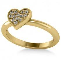 Diamond Heart Fashion Ring 14k Yellow Gold (0.13ct)