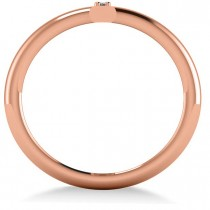 Vertical Diamond Studded Bar Ring 14k Rose Gold (0.26ct)