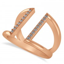 Diamond Double Bar Fashion Ring 14K Rose Gold (0.18ct)