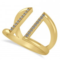 Diamond Double Bar Fashion Ring 14K Yellow Gold (0.18ct)