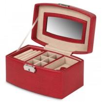 Women's Medium Mirrored Jewelry Box Removable Tray & Travel Organizer