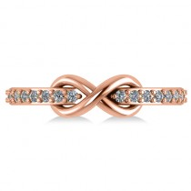 Infinity Diamond Accented Fashion Ring Band 14k Rose Gold (0.24ct)