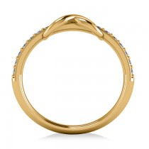 Infinity Diamond Accented Fashion Ring Band 14k Yellow Gold (0.24ct)