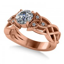 Celtic Round Diamond Engagement Ring 14k Rose Gold (1.06ct)
