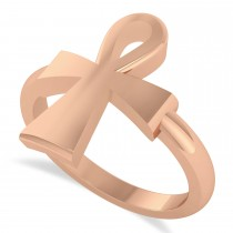 Ankh Egyptian Cross Ring 14K Rose Gold
