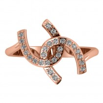 Diamond Double Horseshoe Fashion Ring 14k Rose Gold (0.26ct)