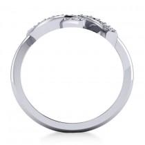 Diamond Double Horseshoe Fashion Ring 14k White Gold (0.26ct)