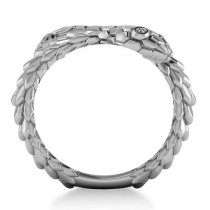 Diamond Double Snake Fashion Ring 14k White Gold (0.04ct)